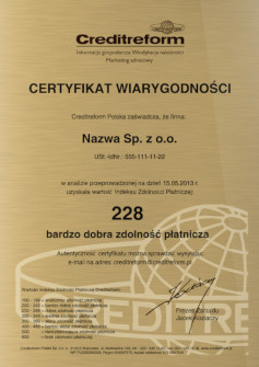 reliability_certificate